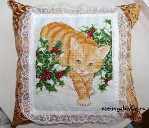 рыжий кот вышивка