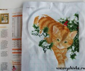 вышивка крестиком коты