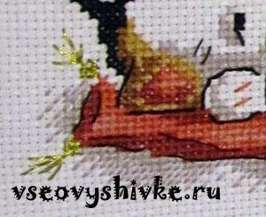 Вышивка крестом иголка назад видео