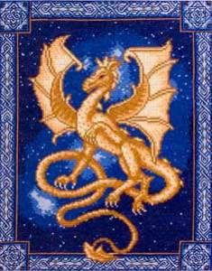 вышивка крестом год дракона