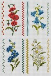 цветы простые схемы вышивки крестом