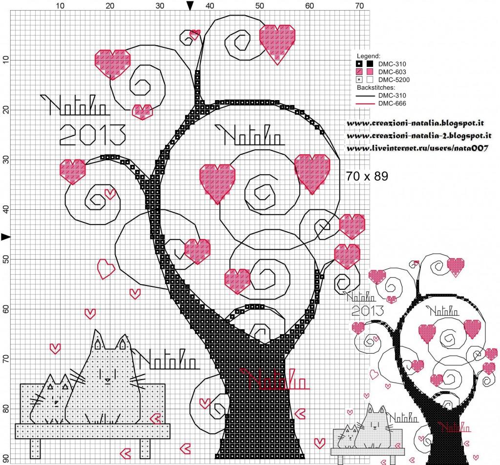 Вышивка крестом схема простое дерево Дерево Бонсай » Схемы вышивки крестом, крестиком»