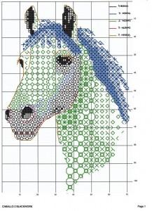 схема вышивки год лошади