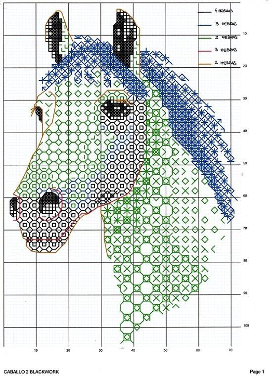 Вышивка крестом год лошади