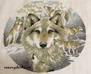 вышивка волки фото