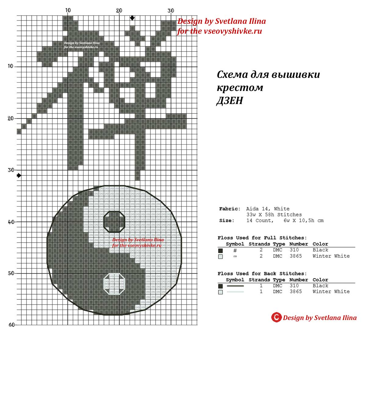 Японский иероглиф схема для вышивки