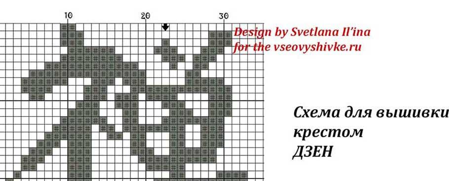 Японские иероглифы схема вышивки