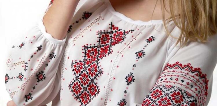 вышивка крестом на одежде