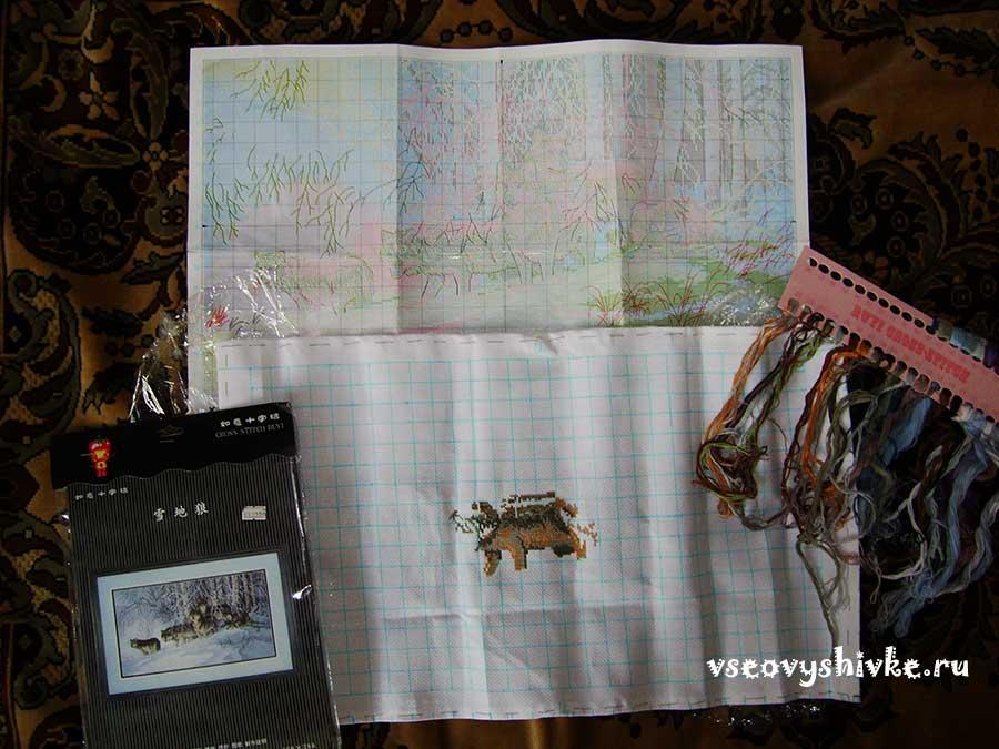 китайские наборы для вышивания