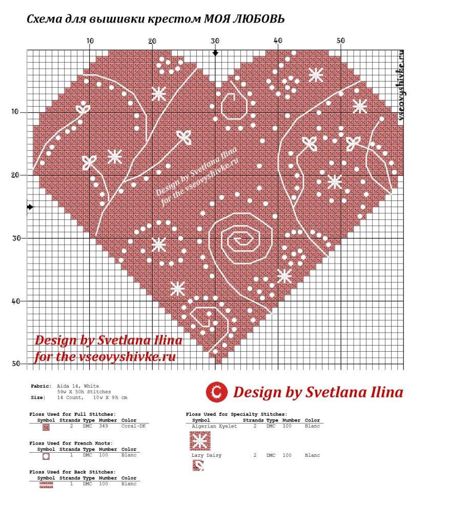 Схемы для вышивки крестом к дню влюбленных. ОСТРОВОК ПОДЕЛОК 182